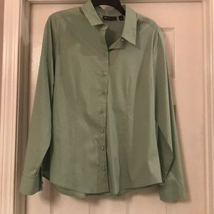 Green Piped Madison Stretch Shirt